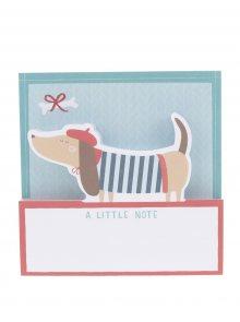 Červeno-modré nalepovací štítky s motivem psa Galison