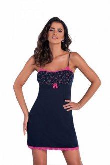 Donna Marina II noční košilka XL tmavě modrá-růžová