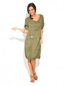 Lin Nature Dámské šaty 6743 - ROBE MICHELLE P16683 KAKI