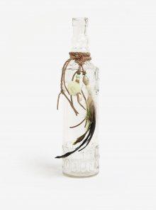 Transparentní dekorační skleněná lahev Kaemingk
