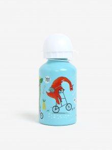 Světle modrá láhev s dinosuarem Sass & Belle Dino Skate