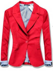 Červené sako na zapínání
