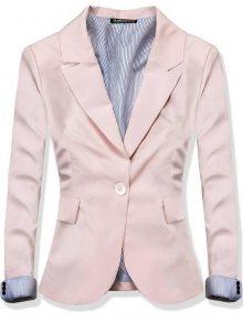 Růžové sako na zapínání