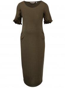 Khaki  pouzdrové těhotenské šaty Dorothy Perkins Maternity