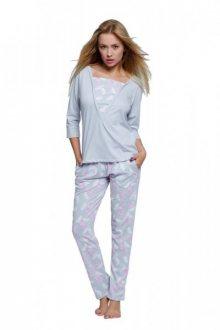 Sensis Rita Dámské pyžamo XL šedo-růžová