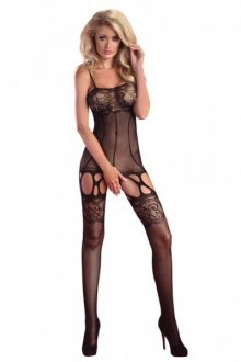 LivCo CORSETTI FASHION - Bodystocking Sissey S/L černá