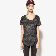 Nike Tričko Tee-Bf Burnout Glitch Ženy Oblečení Trička 803993010 Ženy Oblečení Trička Czarny US S