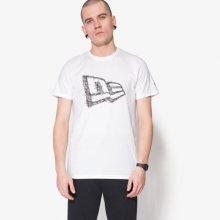 New Era Tričko Wordmark Flag Wht Muži Oblečení Trička 11422866 Muži Oblečení Trička Bílá US M