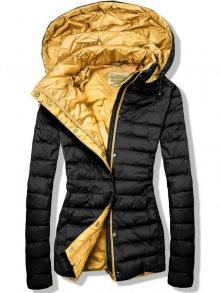 Černo-žlutá prošívaná bunda