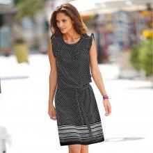 Blancheporte Šaty s potiskem a páskem potisk černá/bílá 36