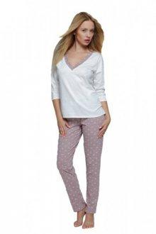 Dámské pyžamo Sensis Pam cappucino-ecru XL ecru-béžová