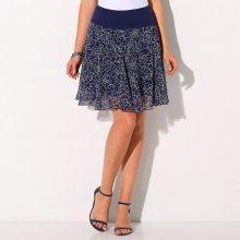 Blancheporte Rozšířená sukně s potiskem květin nám.modrá 36