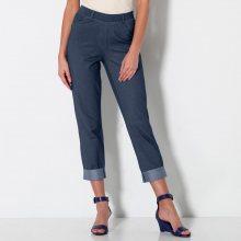 Blancheporte 3/4 kalhoty z džínového úpletu modrá 38