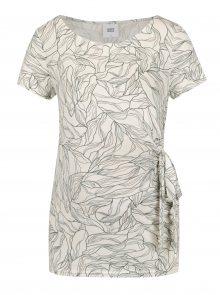 Krémové těhotenské vzorované tričko Mama.licious Maggi