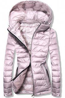 Růžová prošívaná bunda