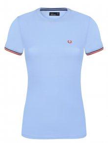 Světle modré tričko z prémiové bavlny od Fred Perry Velikost: XS