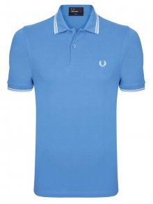 Světle modrá-bílá polokošile z prémiové bavlny od Fred Perry Size: S