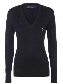 Černo-bílý prémiový svetr s ornamentem od Ralph Lauren Size: S