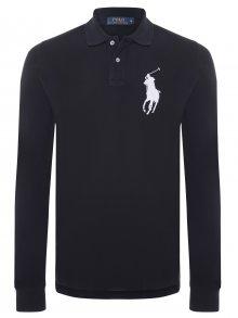 Černobílá polokošile Big Pony s dlouhým rukávem od Ralph Lauren Size: S