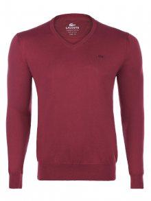 Bordový elegantní svetr od Lacoste Velikost: S