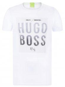 Bílo-šedé prémiové tričko od Hugo Boss Size: S