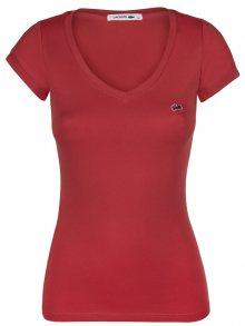 Červené elegantní tričko od Lacoste Size: XS
