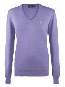 Fialovo-žlutý prémiový svetr od Ralph Lauren Size: XS