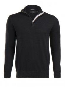 Černý prémiový svetr na zip od Hugo Boss Velikost: S