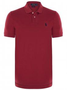 Červeno-černá elegantní polokošile od Ralph Lauren Size: XL
