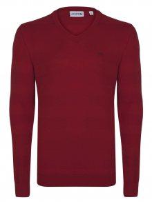 Červený elegantní svetr od Lacoste Size: M