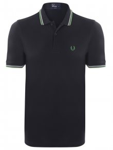 Černo-zelená polokošile z prémiové bavlny od Fred Perry Size: S