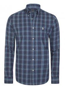 Šedo-zelená košile z prémiové bavlny od Ralph Lauren Size: S