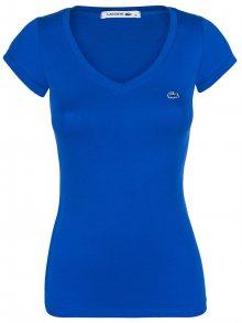 Modré elegantní tričko od Lacoste Velikost: XS