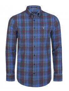 Modro-zelená košile z prémiové Norské bavlny od Gant Size: S