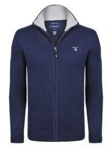 Tmavě modrý luxusní svetr na zip od Gant Size: S