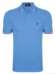 Modro-fialová polokošile z prémiové bavlny od Fred Perry Size: M