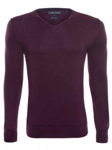 Bordový luxusní svetr od Tommy Hilfiger Size: M