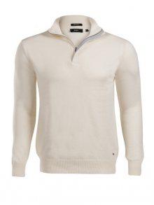 Krémový prémiový svetr na zip od Hugo Boss Size: S