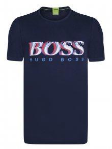 Modro-červené prémiové tričko od Hugo Boss Size: S