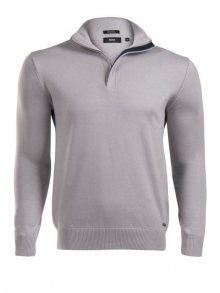 Krémový luxusní svetr na zip od Hugo Boss Size: S
