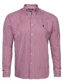 Červeno-bílá prémiová košile od Ralph Lauren Size: S