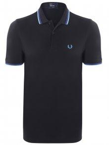 Černo-světle modrá polokošile z prémiové bavlny od Fred Perry Size: S