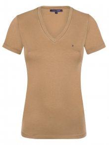 Světle hnědé elegantní tričko od Tommy Hilfiger Size: S