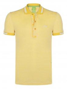 Žluto-bílá prémiová polokošile od Hugo Boss Velikost: S