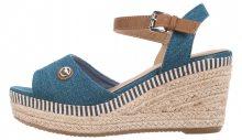 Klínová obuv Tom Tailor | Modrá Béžová | Dámské | 36