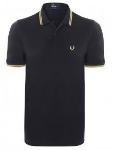 Černo-žlutá polokošile z prémiové bavlny od Fred Perry Size: S