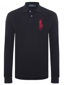Černo-červená polokošile Big Pony s dlouhým rukávem od Ralph Lauren Size: S