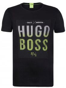 Černo-zelené prémiové tričko od Hugo Boss Size: S