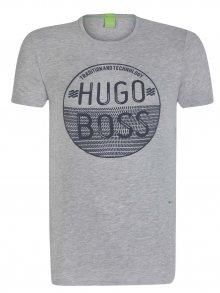Šedočerné prémiové tričko od Hugo Boss Size: S