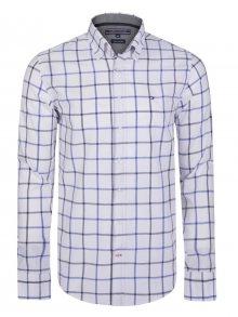 Bílo-fialová luxusní košile od Tommy Hilfiger Size: S